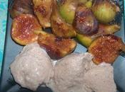 glace épices douces figues rôties miel