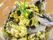 Œufs brouillés champignons herbes