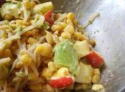 Salade change: pomme, avocat, soja, maïs