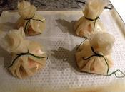 Fêtes: Aumônières foie gras petits légumes