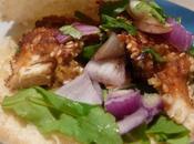 Pita poulet pané sésame