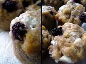 Muffins salés mûres chèvre frais