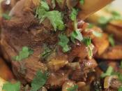 Souris d'agneau tajine, patates douces poires rôties