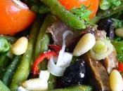 Salade haricots verts pimentée
