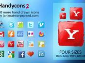 icônes sociales façon peinture
