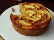 Clafoutis caramel, pommes, noix pécan
