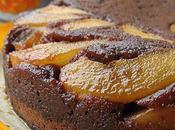 Gâteau renversé poire chocolat très caramel