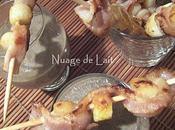 Crème Lentilles Brochettes Pétoncles, idée pour l'apéritif