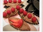 "Semaine ""Laurence Salomon"": Tartelettes chocolat Tofu, fraises vert Matcha."