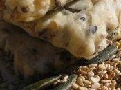 lin, sésame, tournesol courge toutes graines croquent dans délicieux sablés