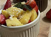 Salade fraise l'ananas