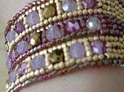 Bracelet Ande doré violet