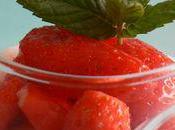 Mousse yaourt fraise