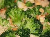 Semoule complète brocolis amandes grillées
