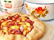 "Peach plum galette Tarte ""pêche-prune"" sans moule"