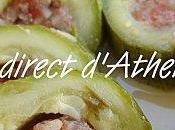 PLAT COMPLET Courgettes farcies sauce citronnée