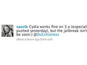 Cydia Winterboard fonctionnent mais jailbreak n'est prêt.
