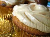 Cupcakes banane chocolat glacés beurre d'arachides
