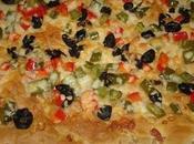 Feuilleter marocaine sous forme pizza