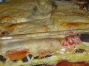Lasagne aubergines gratiné à mozzarella