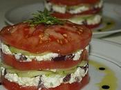 Mille-feuilles tomates féta concombres...ou tomate dans tous états!