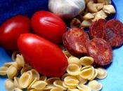 Orecchiette, chorizo, pimento