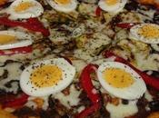 Pizza courgette aubergine