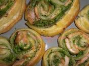 Palmiers saumon pesto