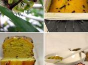 Cake citron sauce fruits passion