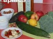 Salade radis noir, brocolis, poivron, concombre pommes
