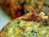 Beignets d'épinards oignons verts