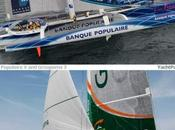 Trophée Jules Verne duel Titans entre Groupama Maxi Banque Populaire
