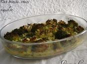 Flan brocolis truite fumée roquefort
