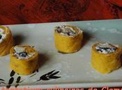 Makis potiron, mousse roquefort, champignons pommes