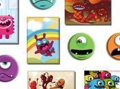 Idée cadeau dernière minute Monsters pack magnets