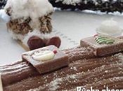 """Bûche """"chocolat pralinoise meringuée"""" pour réveillon."""
