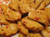 Party foods: cake poivrons chèvre frais