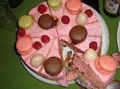 entremet tout rose pour l'anniversaire…