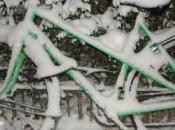 Seul dans neige