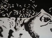 Toile: chat noir blanc