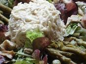 Salade restes poulet rôti