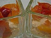 Verrines apéritives poivrons fromage piment d'espelette