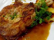 Côtes porc charcutière, gratin dauphinois