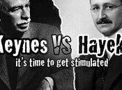 Keynes Hayek battle d'économistes