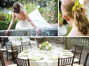 décoration mariage blanche verte