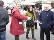 foule candidats marché Louviers