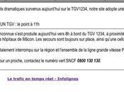 cafouilleuse com' SNCF annonce grave accident… heureusement imaginaire