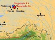Deux séismes magnitude frappent Xizang, Tibet, région frontalière avec Qinghai, Chine
