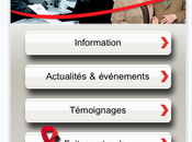 L'application Iphone pour Sidaction plus qu'une app, micro-site
