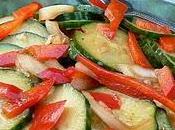 Salade concombres marinés